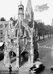 Chichester, Market Cross And The Cathedral c.1960