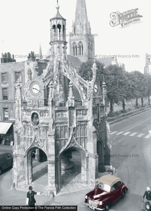 Photo of Chichester, Market Cross And The Cathedral c.1960