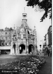 Chichester, Market Cross From Cathedral c.1955