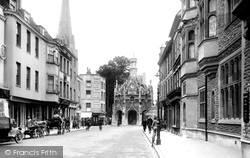 Chichester, Market Cross From East Street 1923