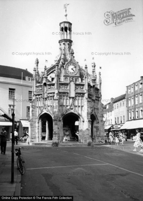 Photo of Chichester, Market Cross From South Street c.1960