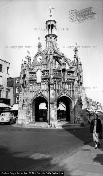 Photo of Chichester, Market Cross From West Street c.1960