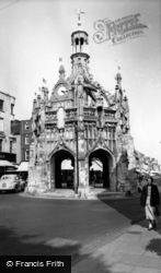 Chichester, Market Cross From West Street c.1960