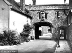 Chichester, Old Gateway c.1955