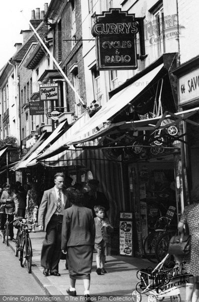 Photo of Chichester, Shops In Southgate South 1953