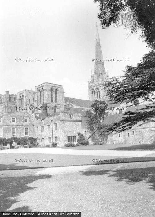 Photo of Chichester, The Cathedral And Bishops Palace c.1960