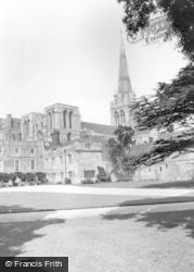 Chichester, The Cathedral And Bishops Palace c.1960