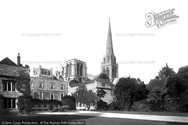 Photo of Chichester, The Cathedral And The Bishop's Palace 1892