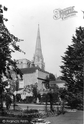 Chichester, The Cathedral And The Bishop's Palace 1892
