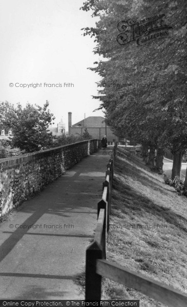 Photo of Chichester, The City Walls c.1955