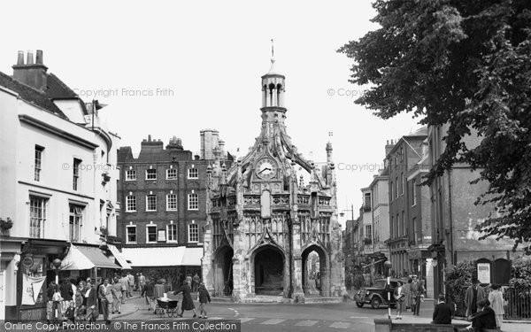 Photo of Chichester, the Market Cross from West Street c1955