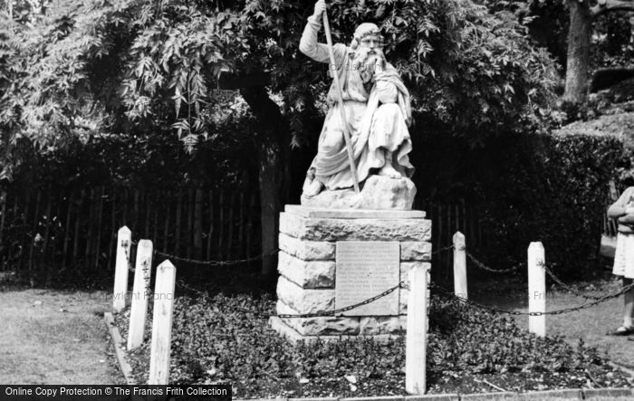 Photo of Chichester, The Statue Of 'moses' In Priory Park c.1960