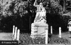Chichester, The Statue Of 'moses' In Priory Park c.1960