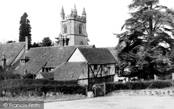 St Mary's Church And Cottages c.1955, Chiddingstone