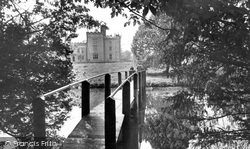 The Castle And Lake c.1955, Chiddingstone