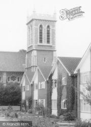 All Saints Church From The Close c.1965, Chigwell Row