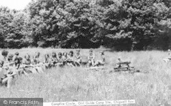 Camp Fire Circle, Girl Guides Camping Field c.1965, Chigwell Row