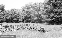 Camp Fire, Girl Guides Camp c.1965, Chigwell Row