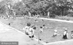 Chigwell Row, Swimming Pool, Girl Guides Camp c.1965