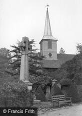 Chigwell, War Memorial and Church of St Mary the Virgin c1955