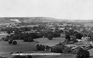 Child Okeford, view from Hambledon Hill c1960