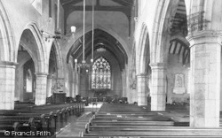 Chilham, The Church Interior 1903