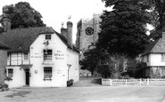 Chilham, the White Horse Inn and St Mary's Church c1955