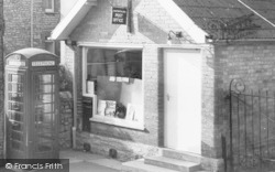 Telephone Box And Post Office c.1965, Chilton Polden