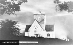 Chilworth, St Martha's On The Hill Church, Floodlit c.1955
