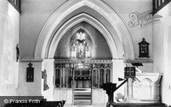 St Martha's On The Hill Church, Interior c.1955, Chilworth