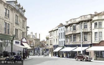Chippenham, Market Place c1955