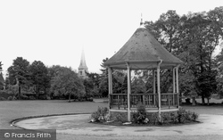 Chippenham, The Bandstand And St Paul's Church c.1960