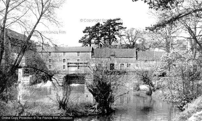 Chippenham,the Old Mill from the Avon c1955,Wiltshire
