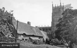 Chipping Campden, Church And Thatched Cottages c.1960