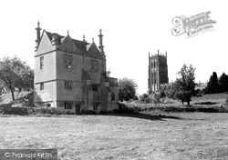 Chipping Campden, Old Campden House And Church c.1955