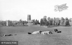 Chipping Campden, St James' Church From Coney Green c.1955