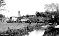 St John's Church From The River Frome c.1955, Chipping Sodbury