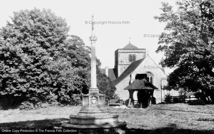 Photo of Chipstead, St Margaret's Church And War Memorial c.1960