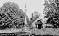 Chipstead, St Margaret's Church and War Memorial c1960