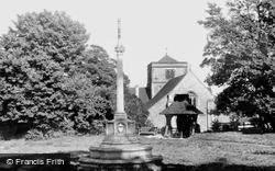 Chipstead, St Margaret's Church And War Memorial c.1960