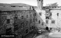 Chirk, Castle, The Inner Courtyard 1948
