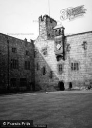 Chirk, Castle, The Inner Courtyard And Clock 1948