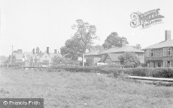 Chirk, Post Office From Recreation Ground 1955
