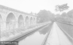 Chirk, The Canal And Viaduct 1955