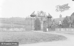 Chirk, The Castle Gates And Lodge 1955