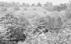 Chirk, The Church From The Canal 1959