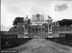 The Gates Of Chirk Castle c.1930, Chirk
