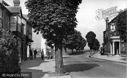 Chirk, The Hand Hotel And Church Street 1953