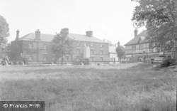 Chirk, The Memorial And Hand Hotel 1953