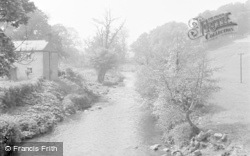 Chirk, The River Ceiriog From Pontyblew 1959